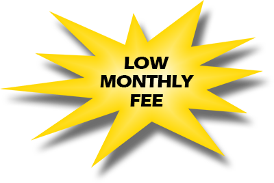 Low monthly Fee